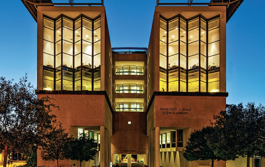 Photo showing the Francisco J. Ayala Science Library